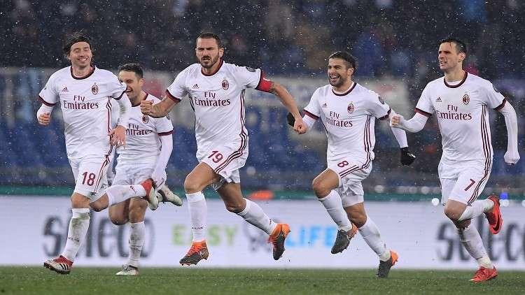 ميلان يتأهل إلى نهائي كأس إيطاليا على حساب لاتسيو