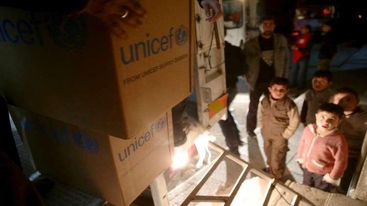 اليونيسف ترجح دخول أولى قافلات المساعدات إلى الغوطة الشرقية الأحد