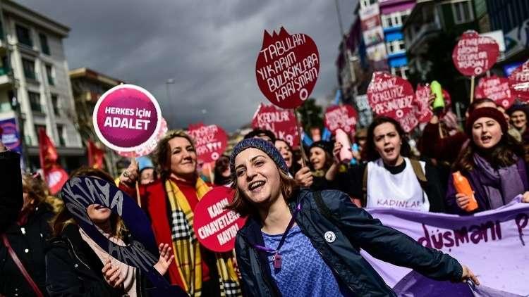 الشرطة التركية تفرّق مسيرة نسائية في أنقرة