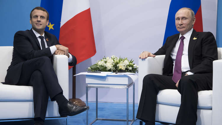 بوتين وماكرون يؤكدان على ضرورة تنفيذ قرار 2401 حول سوريا