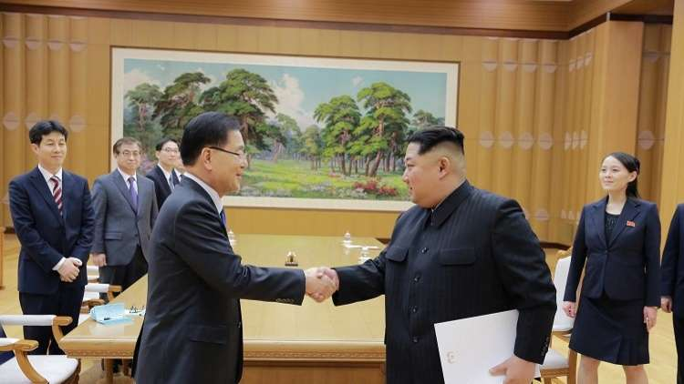 كيم يعلن عزمه على بدء تاريخ جديد لتوحيد الكوريتين
