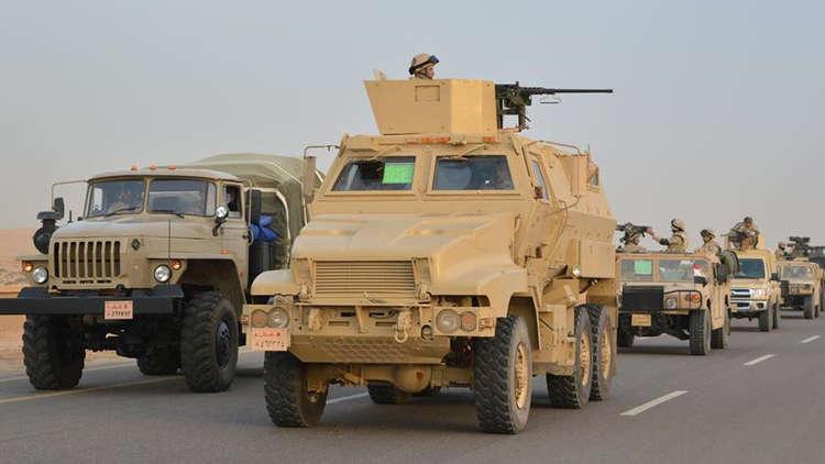 الجيش المصري: تصفية 105 مسلحين ومقتل 16 أمنيا بعملية سيناء 2018