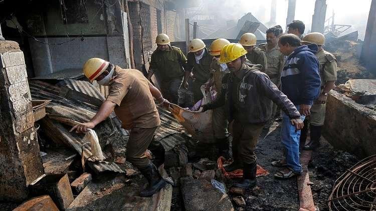 مقتل وإصابة 18 شخصا في حريق بمصنع للكيماويات غربي الهند
