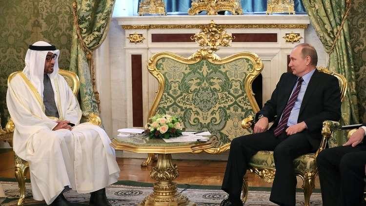 بوتين يبحث مع ولي عهد أبو ظبي التعاون لضمان أمن واستقرار الشرق الأوسط