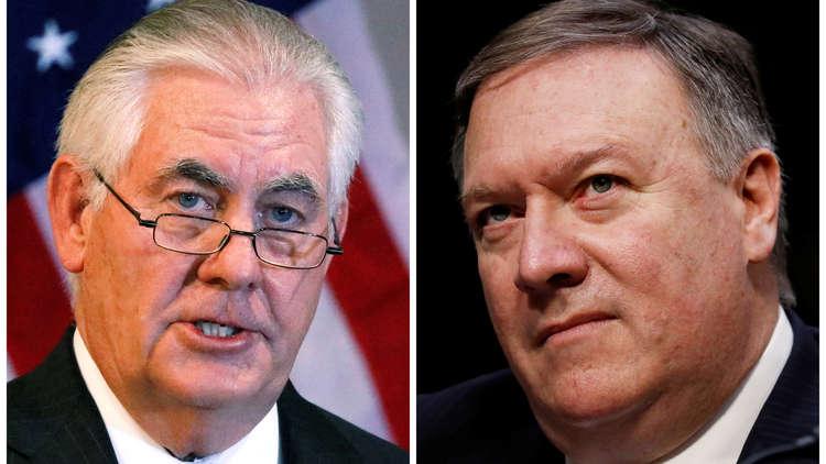 ترامب يقيل تيلرسون من منصب وزير الخارجية ويعين مدير CIA مايك بومبيو خلفا له
