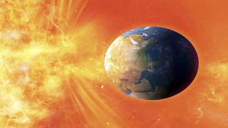 عاصفة شمسية ضخمة تضرب الأرض اليوم الأربعاء