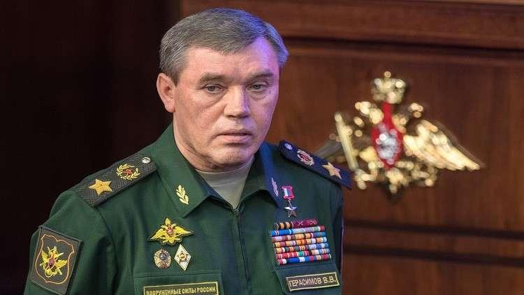 رئيس الأركان الروسي يبحث الوضع في الغوطة الشرقية مع نظيره الأمريكي
