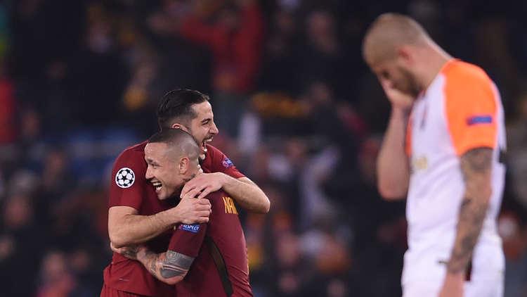 روما يقصي شاختار ويبلغ ربع نهائي أبطال أوروبا