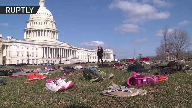 مظاهرة بنكهة مؤثرة في واشنطن