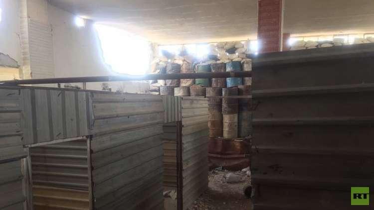 صور.. سجن في منطقة جسرين بغوطة دمشق الشرقية