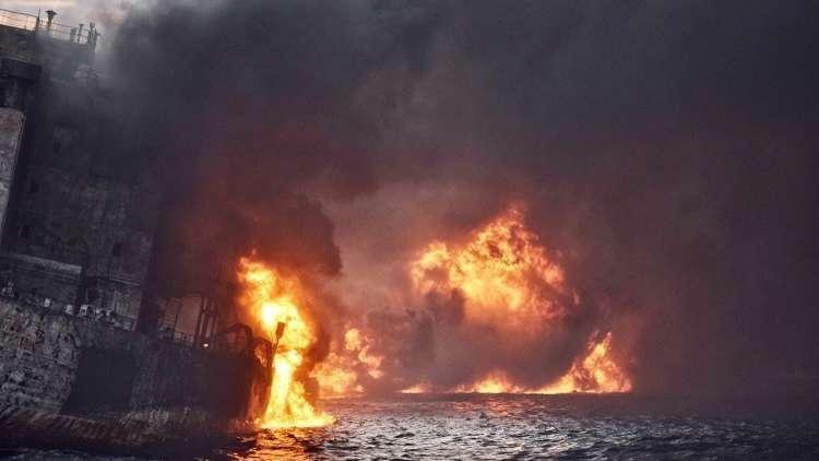 انفجار ضخم في ميناء جنوبي بريطانيا