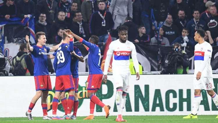 تسيسكا موسكو يقصي ليون ويعبر لربع نهائي الدوري الأوروبي