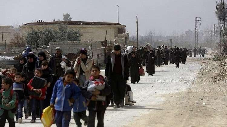 الأمم المتحدة: ما بين 12-16 ألف شخص غادروا الغوطة الشرقية خلال الأيام الماضية