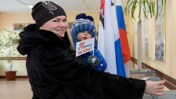 إقبال كبير على التصويت في شرقي روسيا