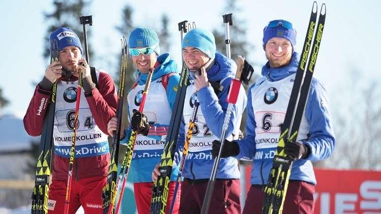 روسيا تحرز برونزية سباق التتابع في كأس العالم للبياتلون