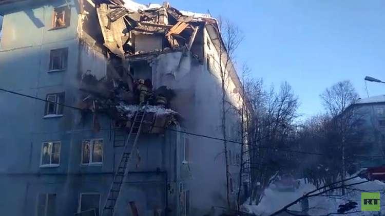 انفجار للغاز يهز مبنى سكني في مورمانسك
