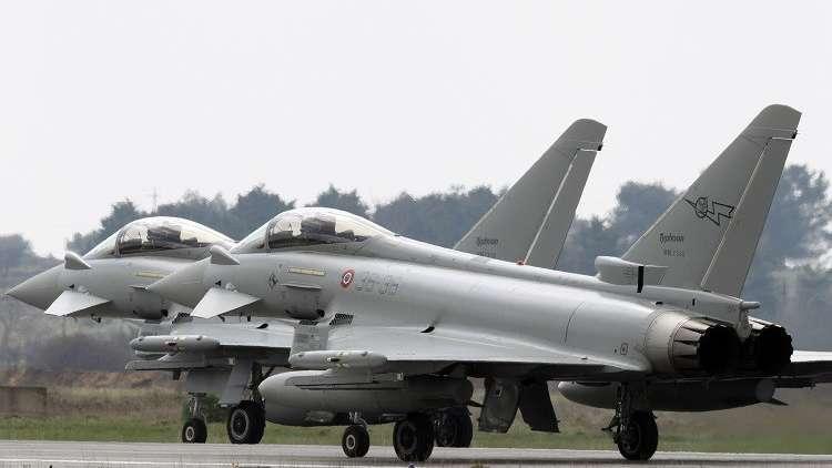 مقاتلات إيطالية تعترض طائرة ركاب فرنسية