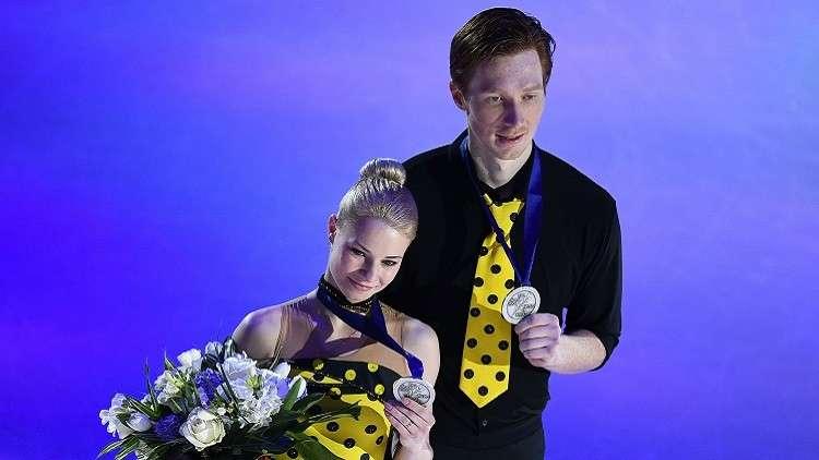 روسيا تحصد ميدالية فضية في بطولة العالم للتزحلق الفني على الجليد
