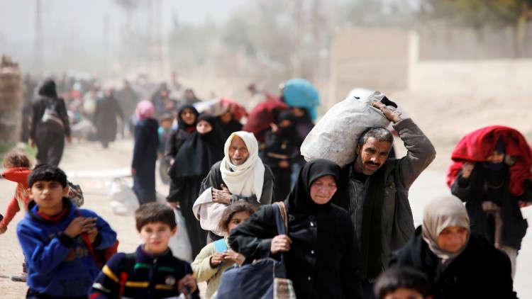 الدفاع الروسية: خروج حوالي 1100 شخص من الغوطة الشرقية عبر