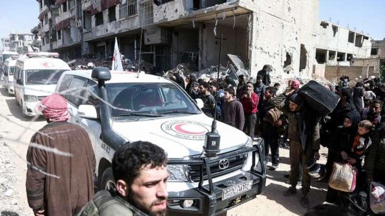 موسكو: أكثر من 114 ألف مدني خرجوا من الغوطة الشرقية
