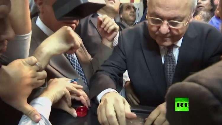 موسى مصطفى موسى يصوت في الانتخابات الرئاسية المصرية