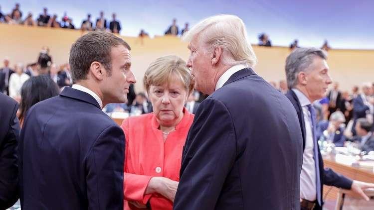 ترامب يبحث مع ماكرون وميركل التحرك الغربي الأخير ضد روسيا