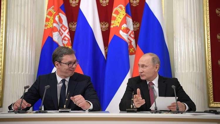 بوتين يبحث هاتفيا الوضع في كوسوفو مع نظيره الصربي