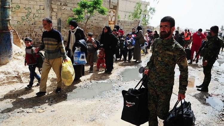 الدفاع الروسية: خروج نحو 1.7 ألف مدني من الغوطة الشرقية عبر مخيم الوافدين اليوم