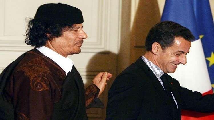 ساركوزي يغرق في فخ القذافي!