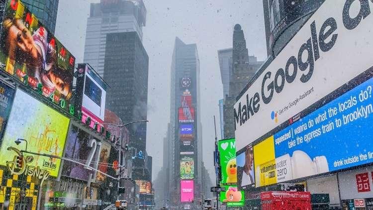 صور السعوديات تملأ شاشات أشهر ساحة في نيويورك