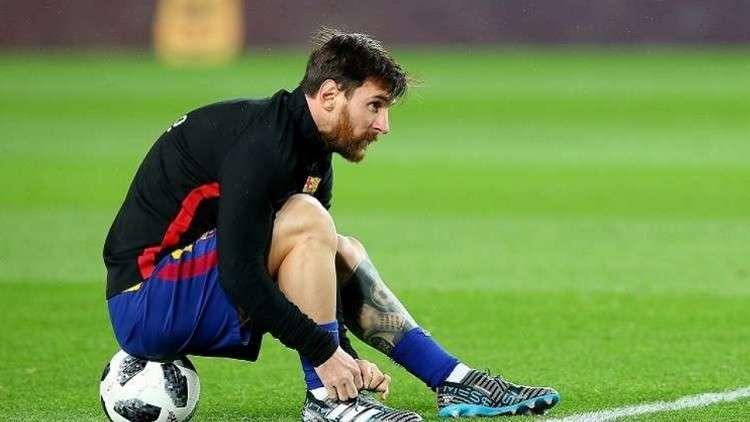 ميسي يعاود التدريبات مع برشلونة