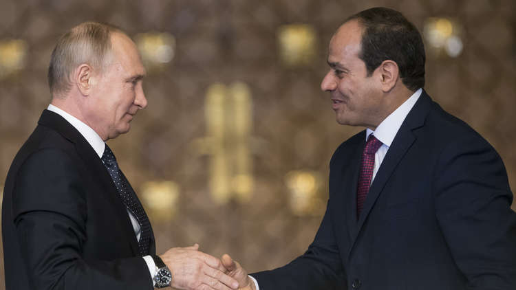 بوتين يرد التهنئة للسيسي