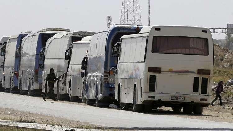 مركز المصالحة الروسي: نحو 144 ألف شخص غادروا الغوطة الشرقية منذ بدء الهدنة