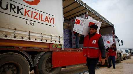 مساعدات إنسانية تركية للسوريين