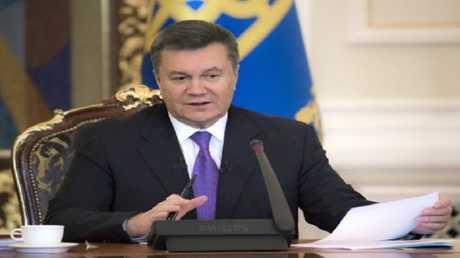 الرئيس الأوكراني السابق فيكتور يانوكوفيتش (صورة أرشيفية)