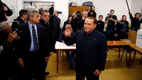 سيلفيو برلوسكوني، زعيم تحالف يمين الوسط ورئيس وزراء إيطاليا الأسبق