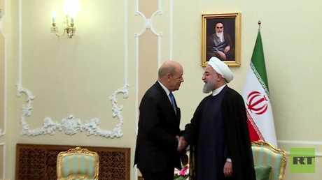 روحاني يلتقي لودريان في طهران