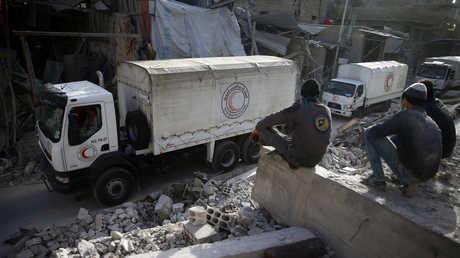 القالفة الإنسانية في الغوطة الشرقية