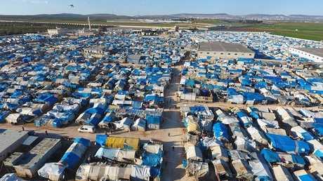 مخيم للنازحين باقرب من أعزاز شمال سوريا (صورة من الأرشيف)