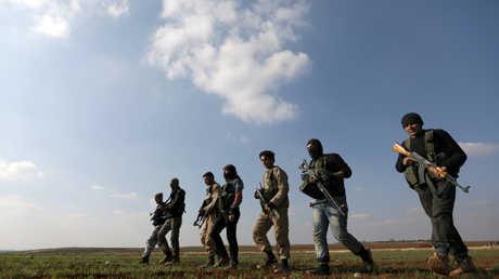 مقاتلون أكراد في ريف حلب