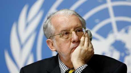 رئيس اللجنة الأممية للتحقيق في انتهاكات حقوق الإنسان في سوريا، باولو بينييرو