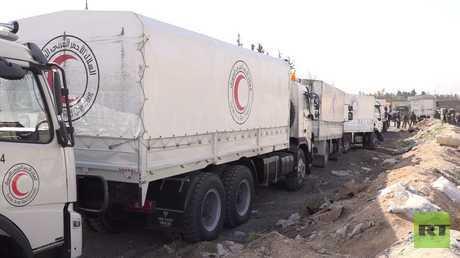 تواصل دخول المساعدات إلى الغوطة الشرقية