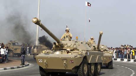 دبابات تابعة للجيش القطري