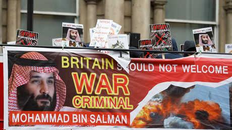 احتجاجات في لندن على زيارة محمد بن سلمان