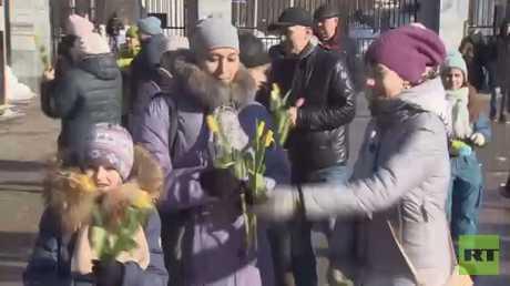 موسكو.. سباق للرجال بعيد المرأة العالمي