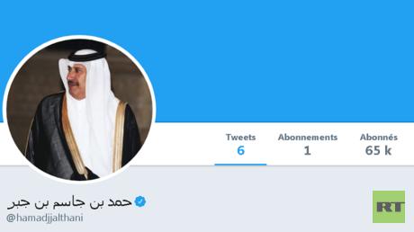 حساب حمد بن جاسم على تويتر