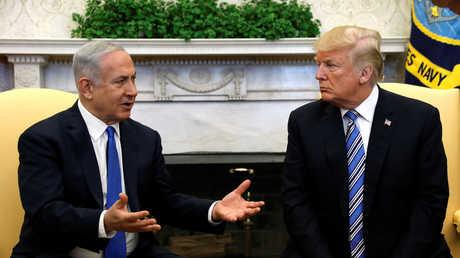 الرئيس الأمريكي، دونالد ترامب، ورئيس زراء إسرائيل، بنيامين نتنياهو،  خلال لقائهما في واشنطن يوم 5 مارس