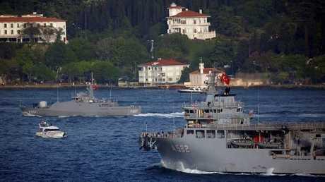 فرقاطة تركية - أرشيف -