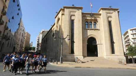 مبنى البرلمان في وسط بيروت، لبنان 7 نوفمبر 2017