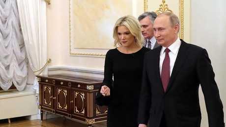 الرئيس الروسي فلاديمير بوتين والصحفية الأمريكية ميغان كيلي، موسكو
